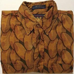 """Ralph Lauren """"Scouts"""" Retro Floral Shirt Sz M"""